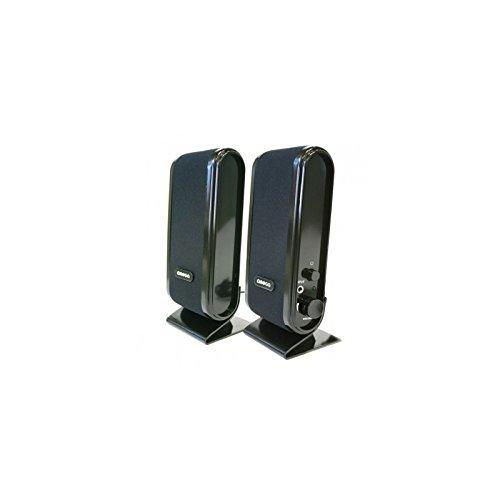 Omega OG02 5W Negro Altavoz - Altavoces (De 1 vía, Alámbrico, USB, 5 W, 90-20000 Hz, Negro)
