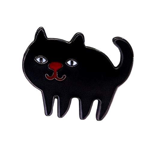 Weimay 1 Pieza Halloween Boutonniere Negro Gato Estilo Tropfbrosche Metallabzeichen tamaño: 2.4 cm * 2 cm