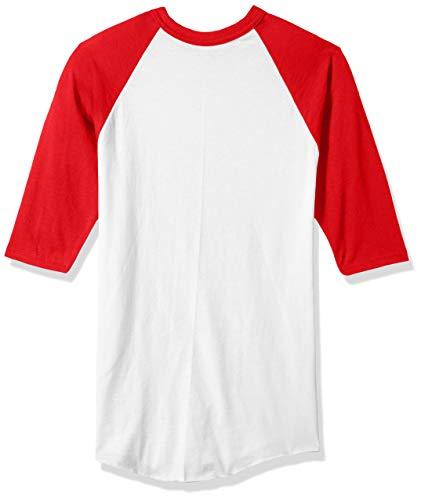 Augusta Sportswear Jungen Baseball-Trikot, Unisex-Kinder Jungen, Boys Baseball Jersey, Medium, White/Red, weiß/rot, Medium