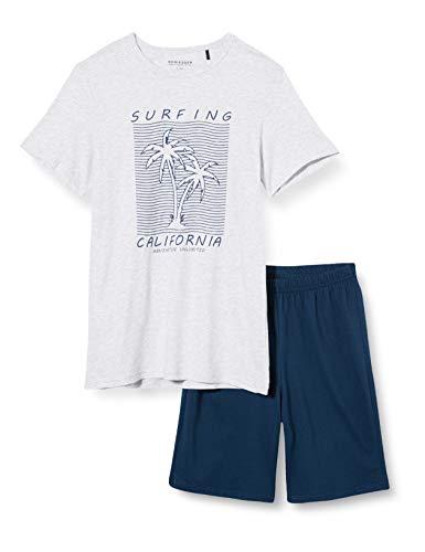 Schiesser Jungen Anzug Kurz Zweiteiliger Schlafanzug, Grau (grau-Mel. 202), (Herstellergröße:176)