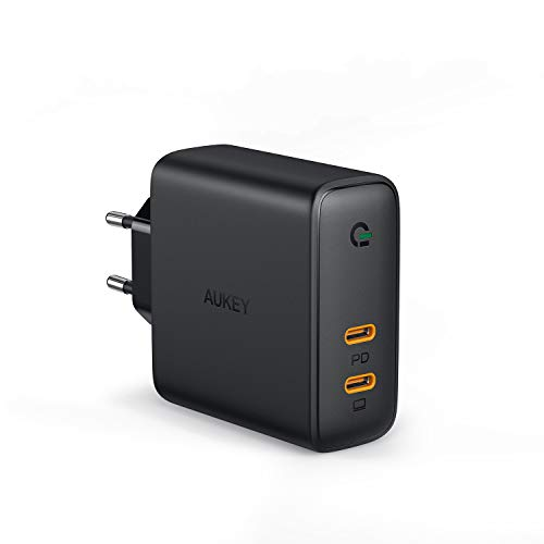 AUKEY USB C Ladegerät 60W Wandladegerät, Power Delivery Ladegerät mit Dynamic Detect und GaN Tech, USB-C Netzteil für MacBook Pro/Air, iPhone 11 Pro Max, Dell XPS 13, HP Spectre, Nintendo Switch usw.