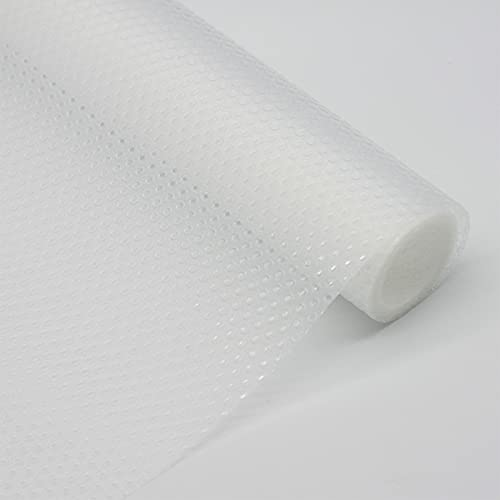 LEISHENT Shelf Liner No Glue and Waterproof Easy to Clean Easy to Cut Durable and Strong for Storage,Desk,Kitchen,Food Storage Rack,Transparent,0.45x15m
