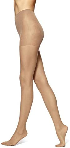 No Nonsense Women s Control Top Pantyhose with Sheer Toe Nude 9 Pair Pack B product image