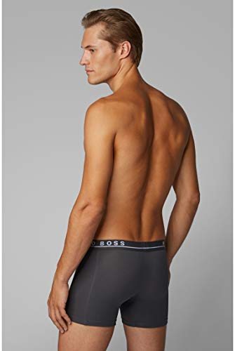 BOSS Mens Boxer Brief 3P CO/EL Three-Pack of Logo Boxer Briefs in Stretch Cotton