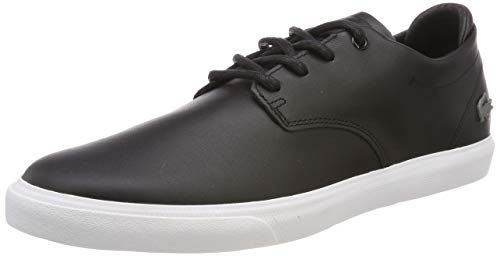 Lacoste Mens ESPARRE BL 1 CMA Sneaker, Schwarz (Black/White), 41 EU