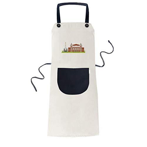 beatChong Samara Russland Nationales Symbol Muster Kochen Küche Beige Adjustable Latzschürze Taschen Frauen Männer Chef-Geschenk