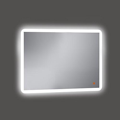 Kristaled Astro Led + Touch Sensor + antivaho (41x22) 80x60 cm Espejo de Baño con Retroiluminación, Cristal, Plateado, 60x80x3 cm