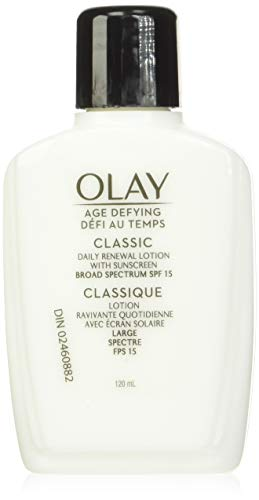 Face Moisturizer by Olay, Age Defying Classic Daily Renewal Lotion, With Sunscreen, Classic,4 oz