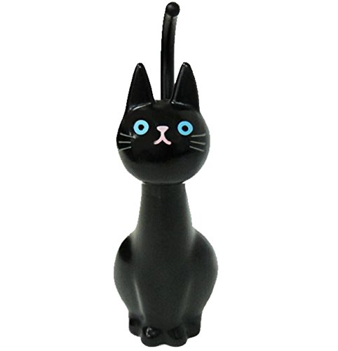Meiho Brosse à WC motif chat, noir, paquet et manuel en japonais (français non garanti)