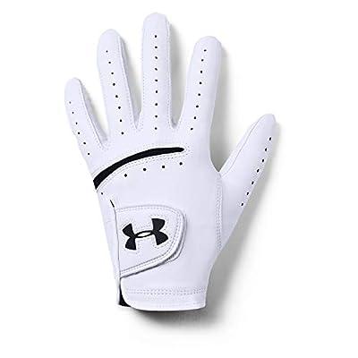Under Armour Men's Strikeskin Tour Golf Gloves , White (100)/Black , Right Hand XX-Large