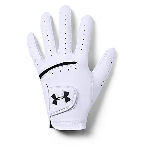 Under Armour Herren Strikeskin Tour Golf Handschuhe, White/Black, LML
