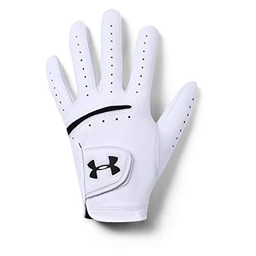 Under Armour Herren Strikeskin Tour Golf Handschuhe, White/Black, LMD
