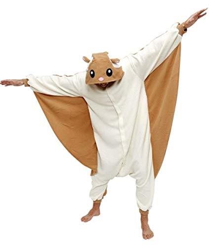 Kigurumi Adult Unisex Tier Pyjama Onesie Overall Kostüm Fasching Halloween Cosplay Fliegendes Eichhörnchen