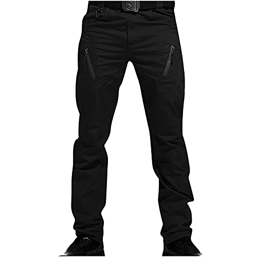 Pantalones de Carga para Hombre Talla Grande Largos Pantalones Multibolsillos Trekking Casual Deportivos de Pantalón Suelto Informal Pantalones tácticos 2021 Pantalón Otoño e Invierno Fitness Gym