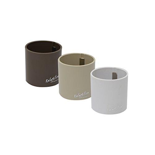 KalaMitica Set 3 Zylinder, Magnetische Blumentöpfe, Ø 6 cm, Braun Farbtone