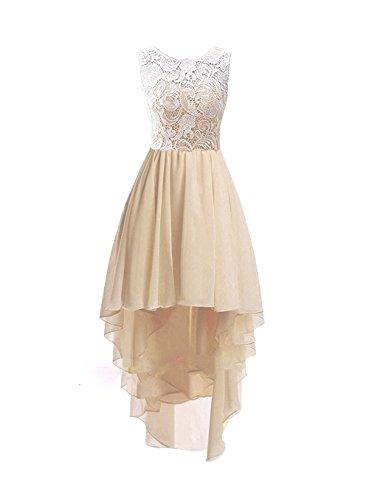 CLLA jurk Damen Tüll Spitze Abendkleider Elegant Asymmetrisch Partykleider Hoge Lage Hochzeitskleider