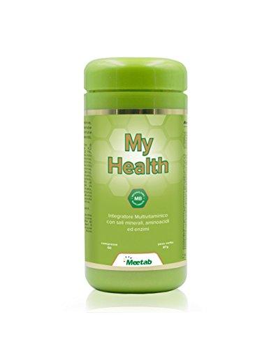 Meetab - My Health - Integratore Multivitaminico - (Vitamine, Sali Minerali, Aminoacidi, Enzimi ed estratti naturali di Frutta e Verdura).