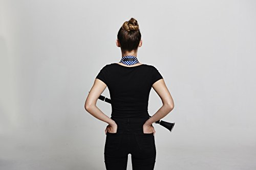ボーモントネックストラップクラリネット・オーボエ用カラー&デザイン:ブルー・ポルカ・ドット