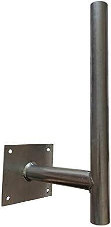 Soporte de pared altura 45 cm offset 25 cm diámetro 38 mm ...
