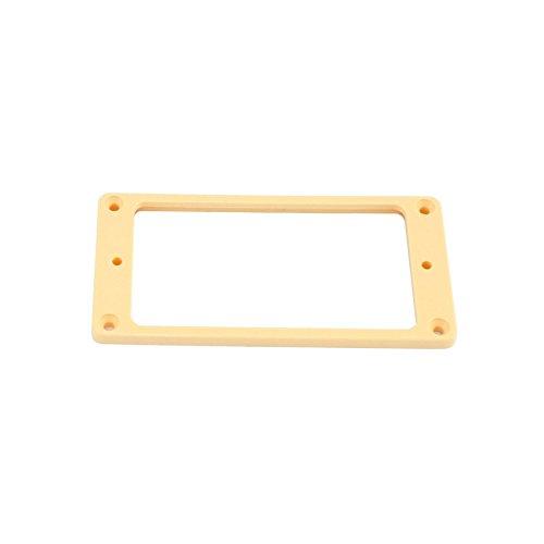 AllParts Humbucker della cornice, Pickup Rings, confezione da pezzi, dritto, Crema, Plastica