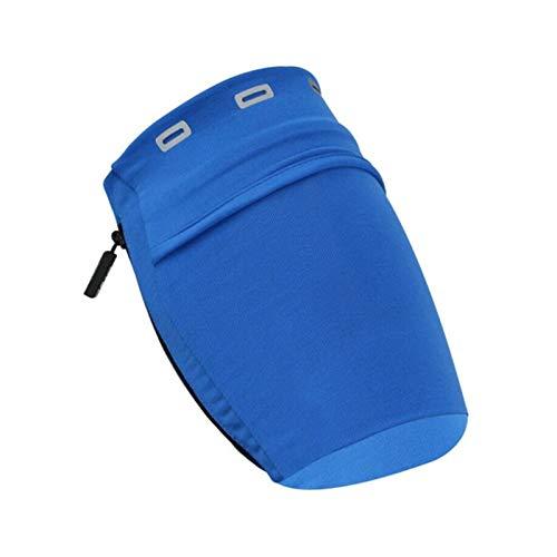 SunnyLou Laufende Armbinde 2 stücke tragbare armbeutel Outdoor läuft trainercise Fitness Armband Handy lagerung Halter Jogging Yoga Tragetasche Tasche (Color : Blue)