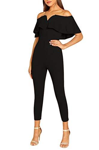 Tuesdays2 Womens Jumpsuits Elegant Button Long Leg Jumpsuits Romper