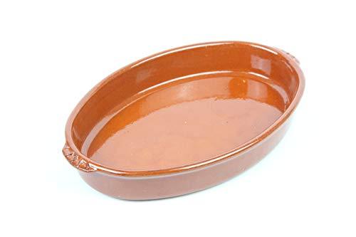 ARTESANIAROCA Cazuela ovala de Barro refrectario. Ideal para el Horno. Se Puede...