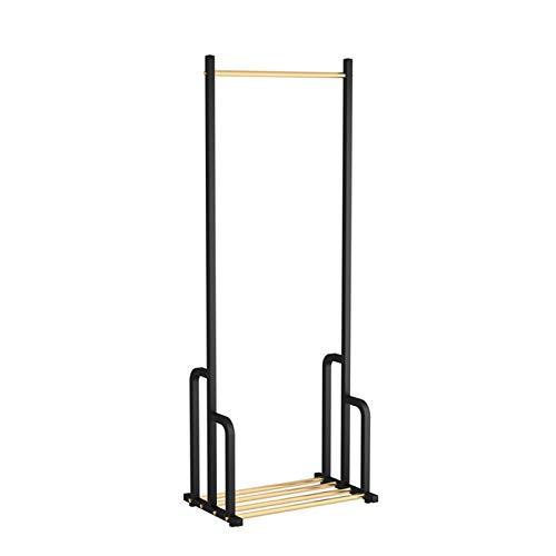 Perchero JIE- Nordic Hierro Forjado con vástago Simple Multifuncional for Suelo de visualización Tienda de Ropa Rack Rack de Almacenamiento de Hogares Percha (Size : 60x39x160CM)