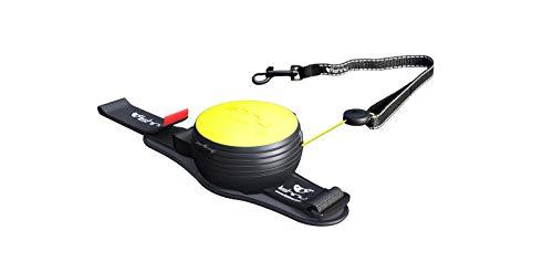 Lishinu 3830061190702 New 2 Original, Roll-Leine für Hunde mit Stop knopf, von 12 kg bis 35 kg, M, neon gelb