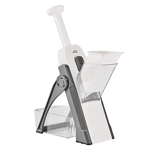Lacor 60460 Mandolina Vertical multifunción Plegable, 4 Tip