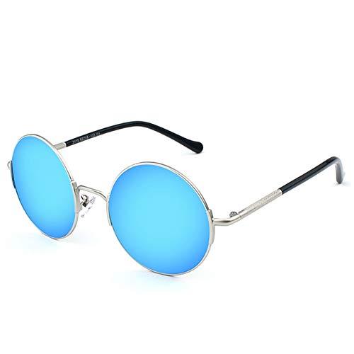 SSN Gafas De Sol Polarizadas Hombres Conducción Redonda Gafas De Sol Traidores Retro Hip Hop Personalidad Cara Grande Príncipe Gafas Moda Pequeño Marco (Color : C)