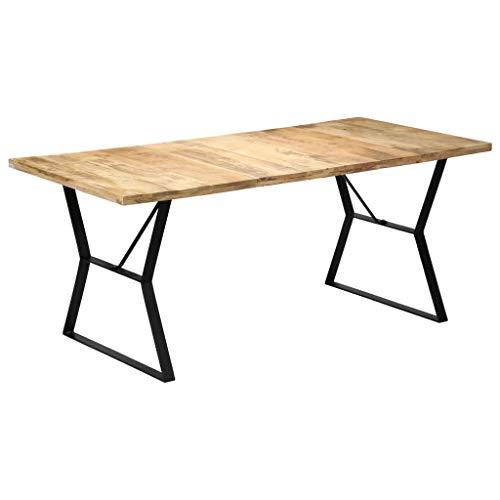 vidaXL Mesa de comedor de madera maciza de mango 180x90x76 cm