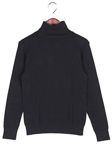 [ルトロワ] ハイゲージ タートルネック セーター ブラック LAURENT LAINE ローラン レーヌ LT505 メンズ XL