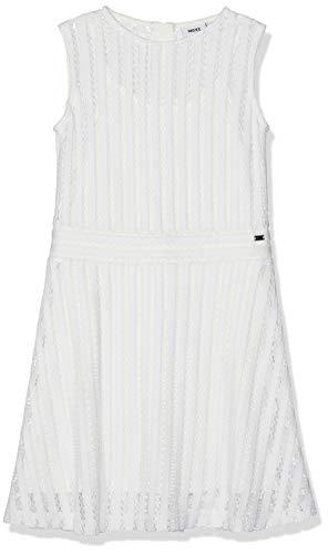 Mexx Mädchen Kleid, Weiß (White 110600), (Herstellergröße: 128)