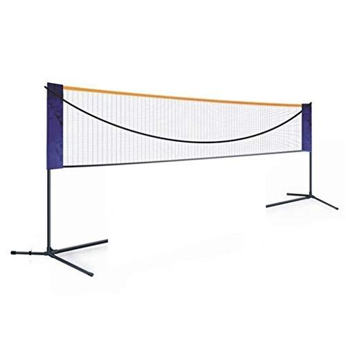 Redes Campus de bádminton Pista Voleibol portátil Badminton Profesional bádminton Neto for los Deportes del Patio Trasero Jardín Playa (Color : Black, Size : 610 * 155cm)
