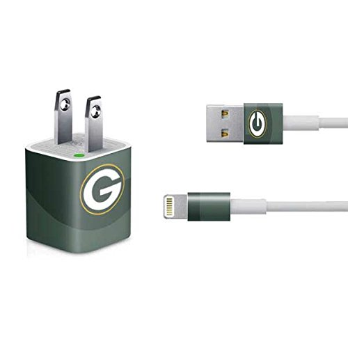Skinit Decal Skin for iPhone Charger (5W USB) - Officially Licensed NFL Green Bay Packers Double Vision Design