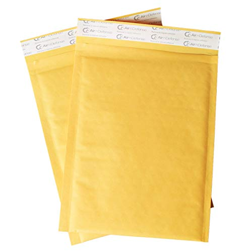 32/250/500/1000/2000/5000 pcs #00 5x10 Kraft Bubble Padded Envelopes Mailers Shipping Bags AirnDefense (500)