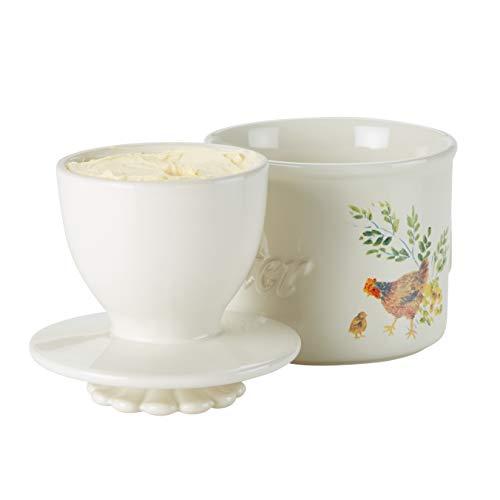 Paula Deen Dinnerware Ceramic Butter Holder Garden Rooster