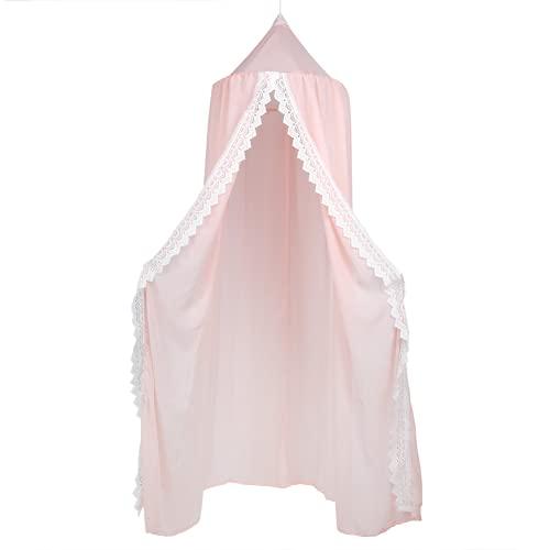 LIKJ Mosquitera De Cúpula Redonda, Toldo De Princesa De Almacenamiento Conveniente para Decoración De Cama De Niños para Habitación De Bebé(Rosado)