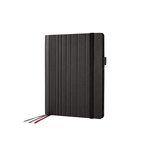 SIGEL CF111 Carpeta, Portafolios, 18,5x23x3 cm, polipiel, negro - Conceptum flex