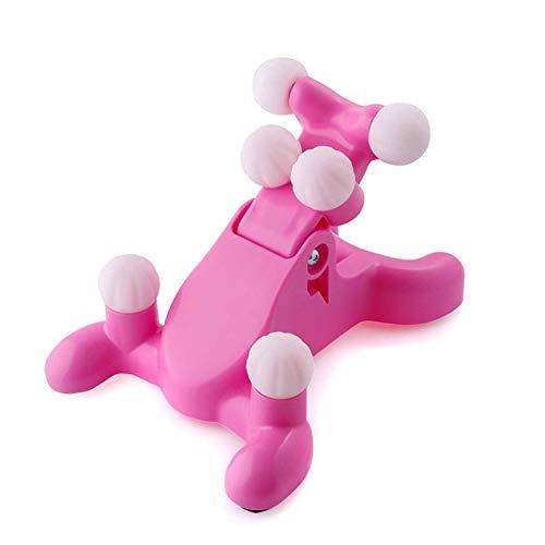 Zidao Manuel Trigger Point Therapy Neck Pillow Cou Maux de tête de Massage Soulagement des douleurs Musculaires Relaxant Appareil,Rose
