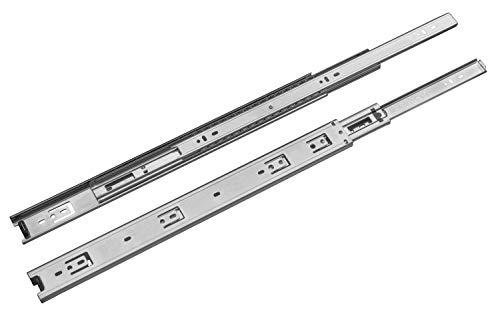 Guías Gamet PK44-1 par de guías correderas a bolas para un cajón L: 350/400/450/500/550 mm/extracción total/carga máxima: 30 kg | L: 550 mm