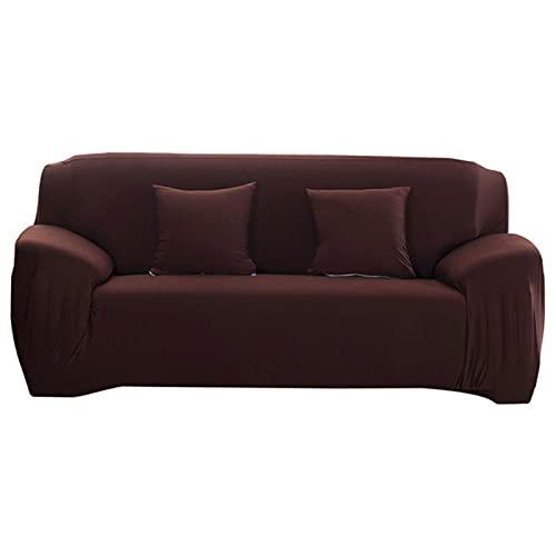 JINGQIAO Elasticidad sofá cubierta extensible sofá cubierta sofá cubierta seccional color sólido solo/dos/tres/cuatro asientos L forma necesidad comprar 2 unids
