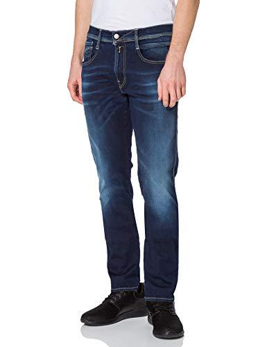 Replay Herren Anbass Jeans, 007 Dark Blue, 3232