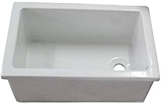 glazed metal utility sink
