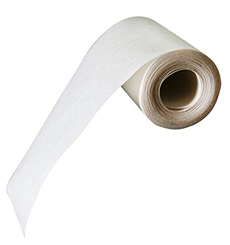 Fabrics and Drapes for Home Sewing - 5 Inch Wide, Washable, Non Woven Filter Fabric, White, Sew-in Buckram/Heading Tape- 10 Yard Piece - Style B-0024556