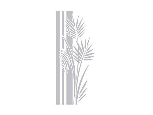 GRAZDesign Fenstertattoo Wellness/Banner mit Palmen-Blätter, Fensterfolie fürs Badezimmer, Glastattoo für Dusche / 133x57cm