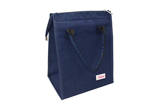 Yansanido Lunch Bag Tote Bag, Best Christmas Gift,Lunch Organizer Lunch Holder Insulated Lunch Cooler Bag for Office, School, Picnic, Camping, Travel (Style 2-Navy Blue)