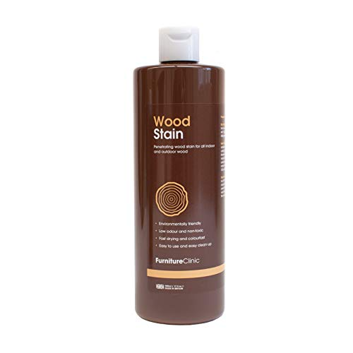 Furniture Clinic Wood Stain (250ml, Walnut) - Fast, Effective Wood Stain...