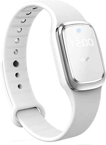 Anti-mosquito Wristband Travel Smart Watch Ultrasonic Insect Repeller Wrist Band Pest Control Waterproof Protection Adults and Children Camping Bedrooms Grilling USB Rechargeable-White Well